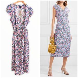 NEW! J. Crew Fabrizia Floral Wrap Dress Large